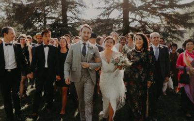 Mariage chic inspiration années folles au Chateau Pape Clément