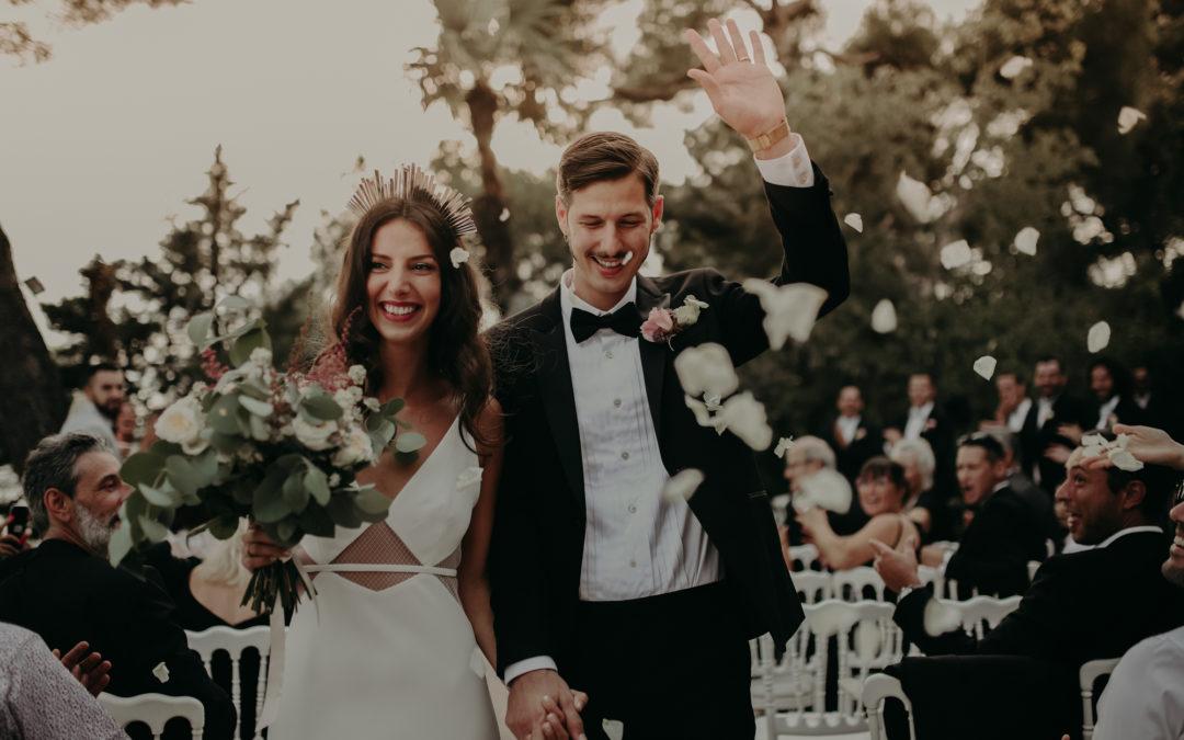 Mariage moderne et stylé à la Résidence du Cap Brun Toulon