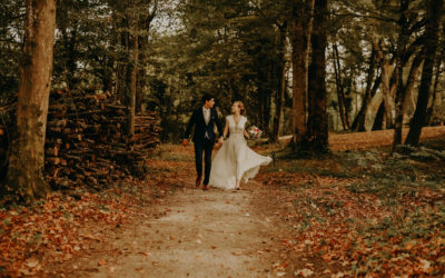 Un mariage d'automne dans la Drôme au domaine de la Chartrogniere