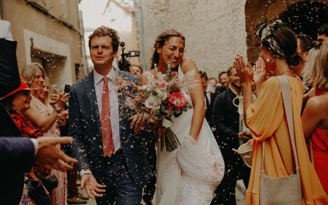 Une wedding party anglaise bohème dans le Var au Pontillaou